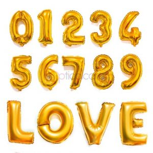 Цифры и буквы фольгированные 5- см